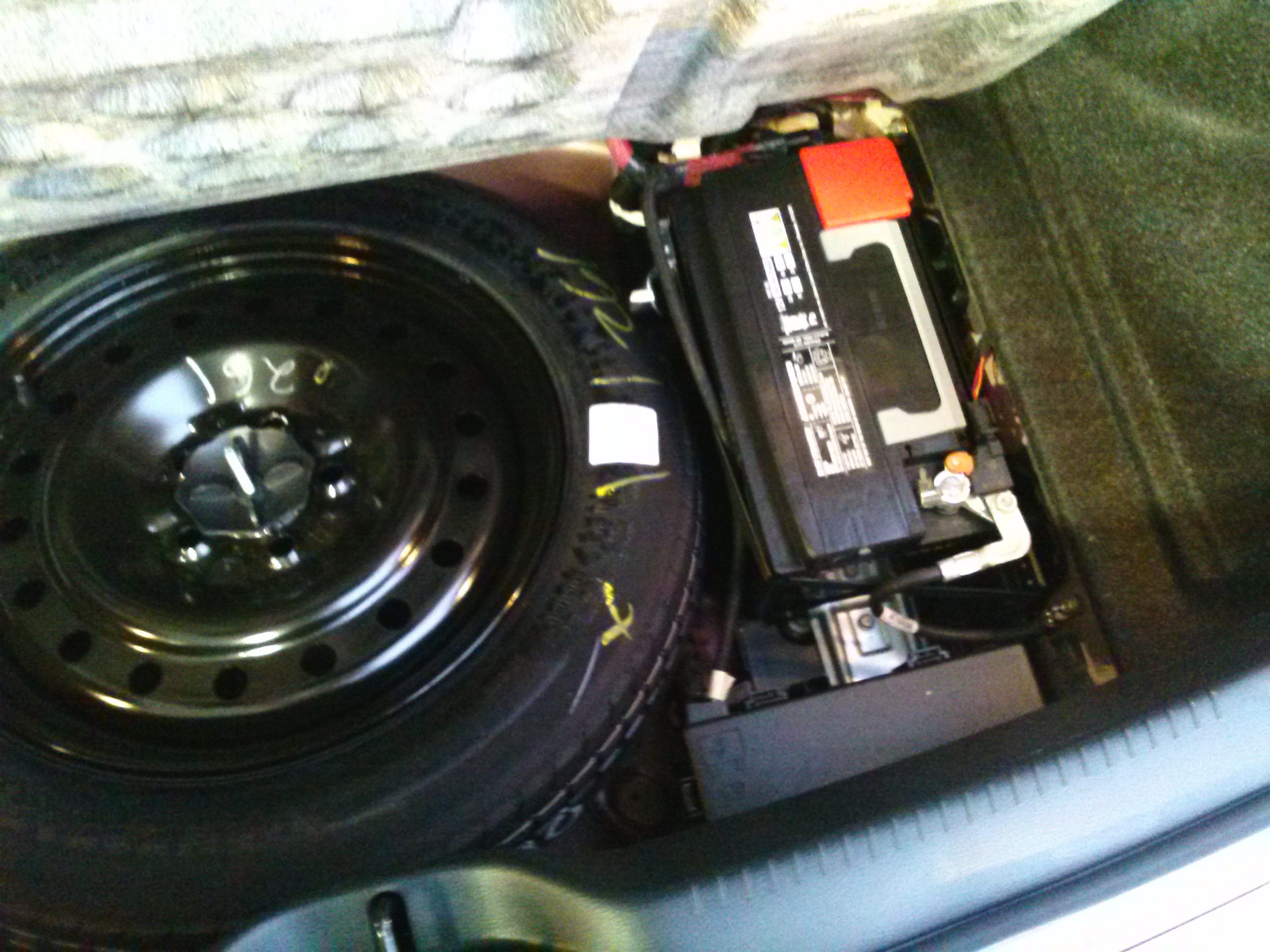 Cam on Battery Location 2012 Chrysler 200